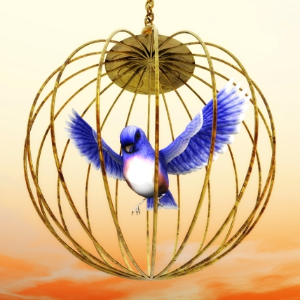 Digital Illustration of a golden Cage