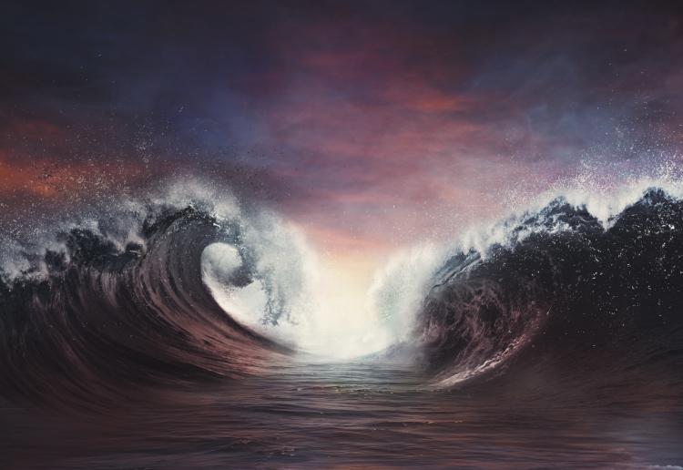 Parting ocean