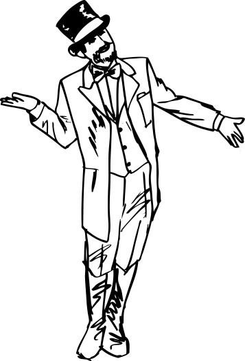 sketch-the-magician-waved-his-hand-in-greeting-to-the-side-vector-illustrat_G1slSMOO_L