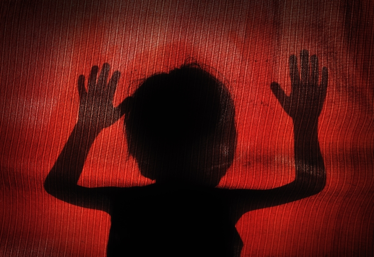 conceptual silhouette of a child