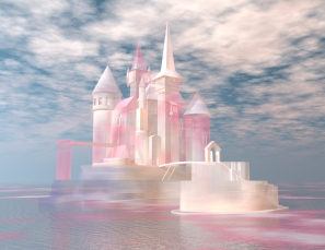 digital visualization of a castle