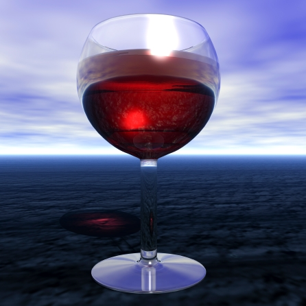 Digital visualization of a glas of wine
