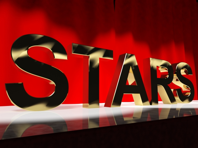 Stars Word On Stage Meaning Famous People Like Celebrities Divas And Superstars