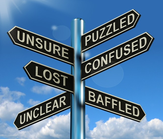 puzzled-confused-lost-signpost-showing-puzzling-problem_GJtcvNDu